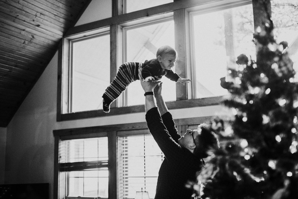 Christmas 2016 | Hannahill Photography | Branson, MO | Documentary Family Photography | a portrait of my nephew in black and white