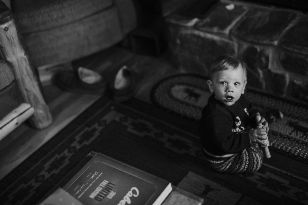 Christmas 2016 | Hannahill Photography | Branson, MO | Documentary Family Photography | a black and white portrait of my nephew