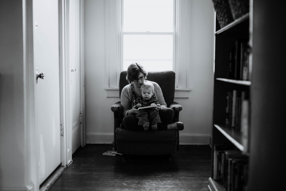 Rebecca Clair: Headshots | Hannahill Photography | Kansas City, MO | a beautiful in home session with mother and son reading together