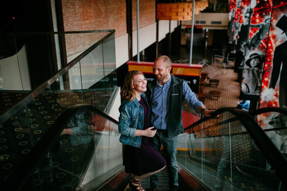 Alex & John: Downtown KC Engagement Session | Hannahill Photography | Kansas City, Mo | rooftop library session urban brick walls | engaged | couples portraits | wedding photographer | lifestyle photographer | documentary love story photographer