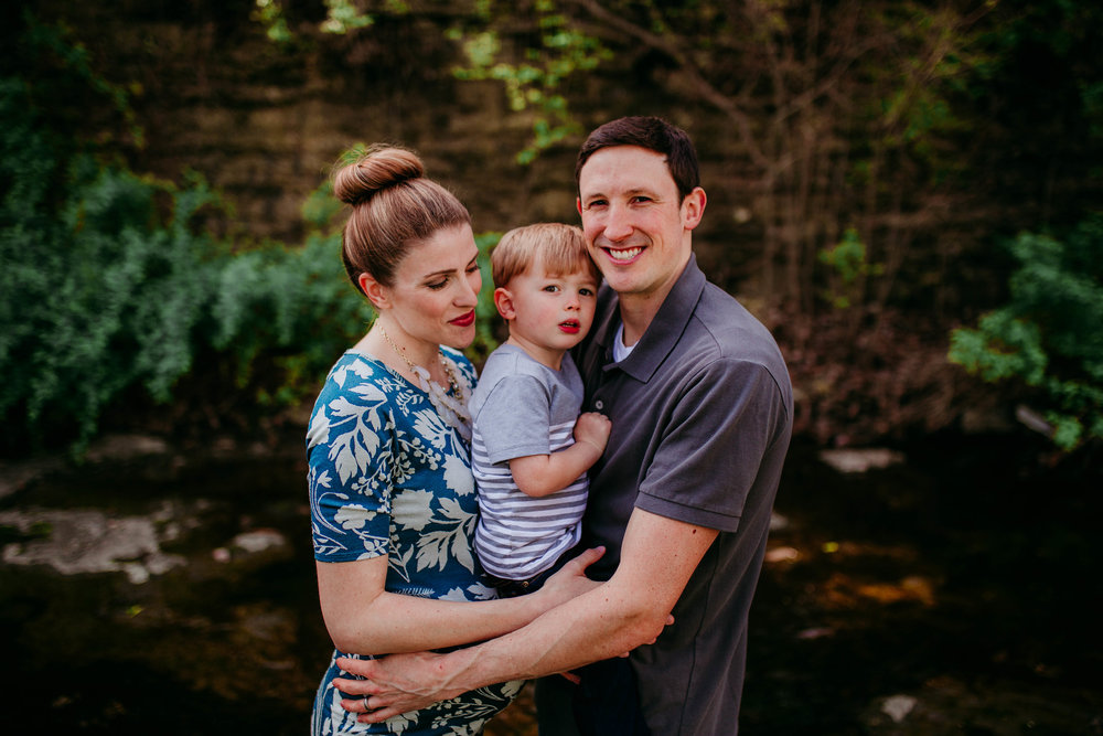 The Ostertag Family : In Home Maternity & Family Session | Kansas City, MO | Hannahill Photography | Documentary photography motherhood session in home lees summit toddler session expecting a new little one | cute pregnancy | Maternity session