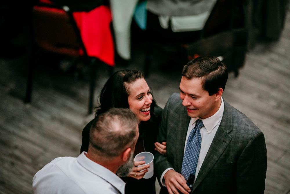 Bert & Lauren's North Kansas City Spring Wedding | Hannahill Photography | Raleigh Durham Photographer | North Carolina Wedding Photography | Family Photographer | Wedding photographer | guests enjoying the reception