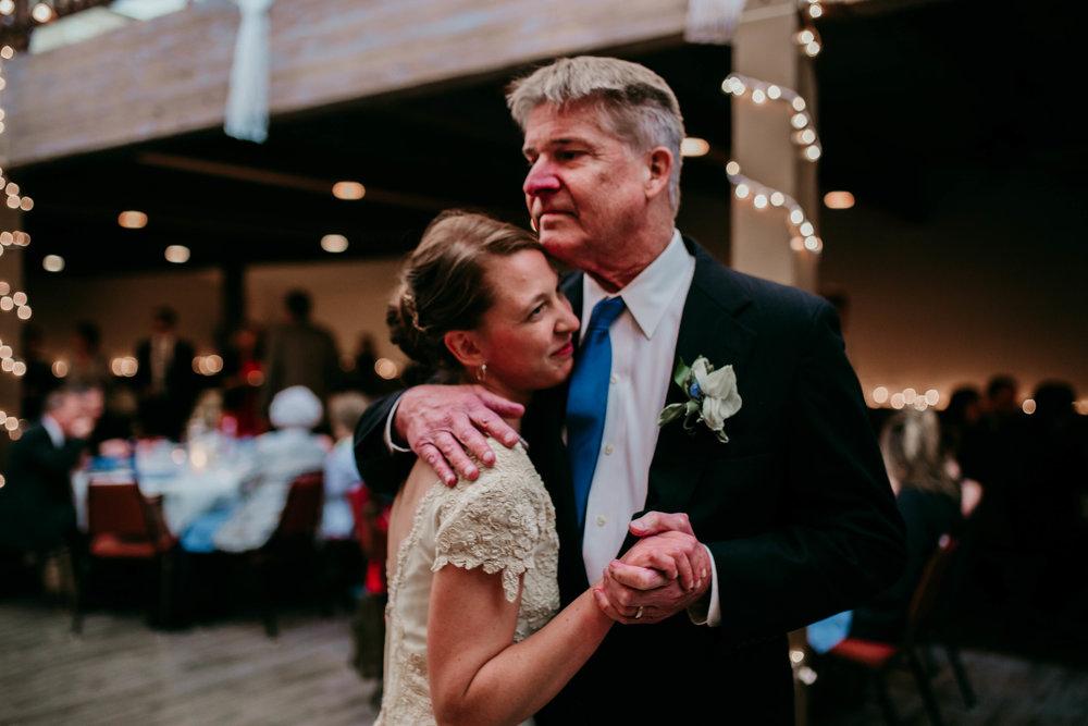 Bert & Lauren's North Kansas City Spring Wedding | Hannahill Photography | Raleigh Durham Photographer | North Carolina Wedding Photography | Family Photographer | Wedding photographer | dad gets emotional during father daughter dance