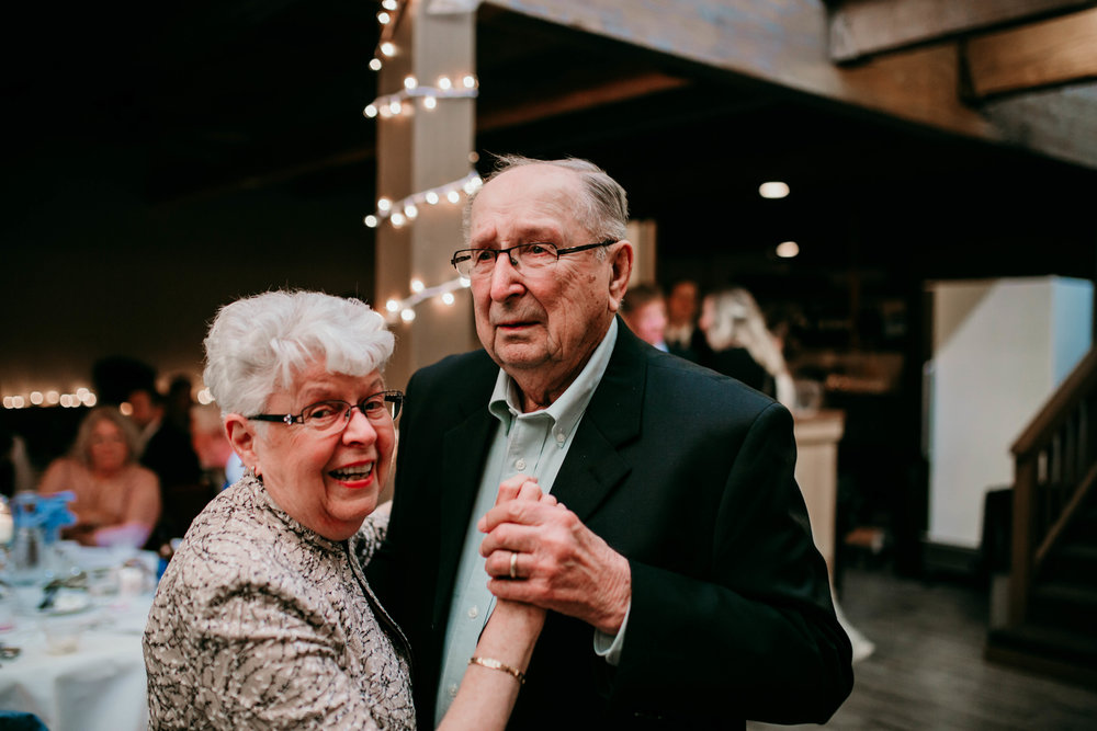 Bert & Lauren's North Kansas City Spring Wedding | Hannahill Photography | Raleigh Durham Photographer | North Carolina Wedding Photography | Family Photographer | Wedding photographer | The couple who has been married for 60 years shares a dance at the reception