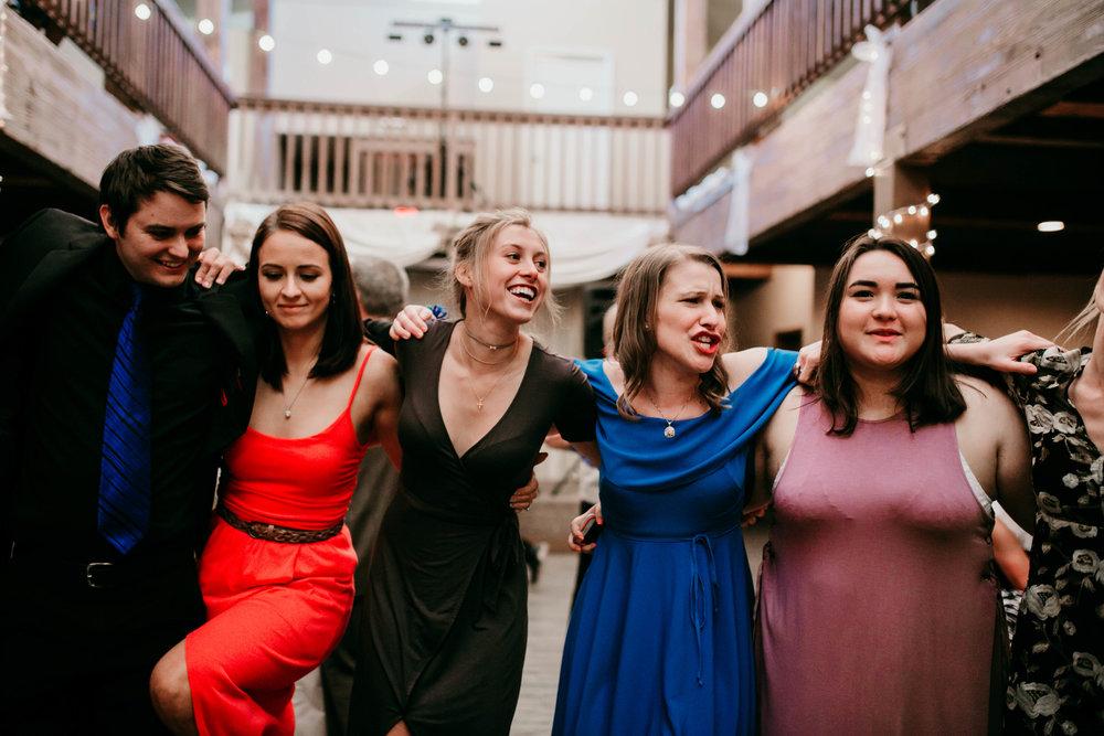Bert & Lauren's North Kansas City Spring Wedding | Hannahill Photography | Raleigh Durham Photographer | North Carolina Wedding Photography | Family Photographer | Wedding photographer | cousins dance at the reception