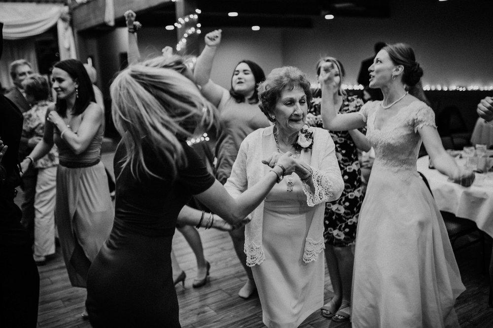Bert & Lauren's North Kansas City Spring Wedding | Hannahill Photography | Raleigh Durham Photographer | North Carolina Wedding Photography | Family Photographer | Wedding photographer | grandma dances at the reception