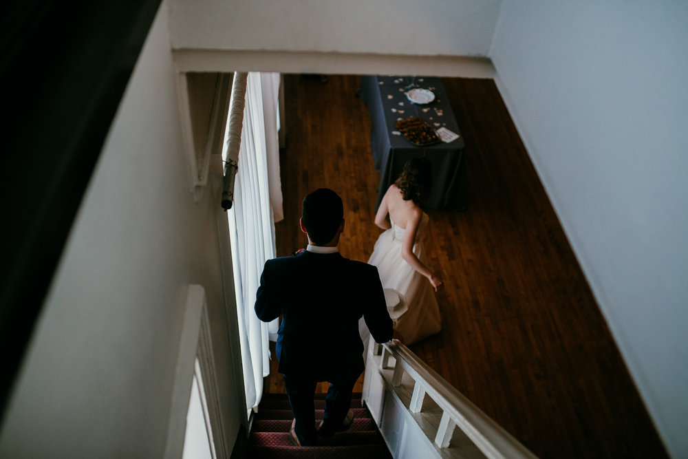 Bride and groom before the ceremony | Shelbie & Jospeh's Summer Love Story : Kansas City Wedding | Hanna Hill Photography