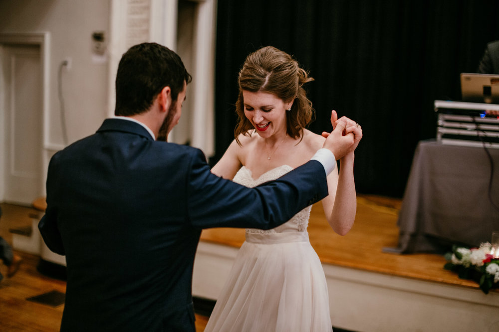 dancing at the reception of Shelbie & Jospeh's Summer Love Story : Kansas City Wedding | Hanna Hill Photography