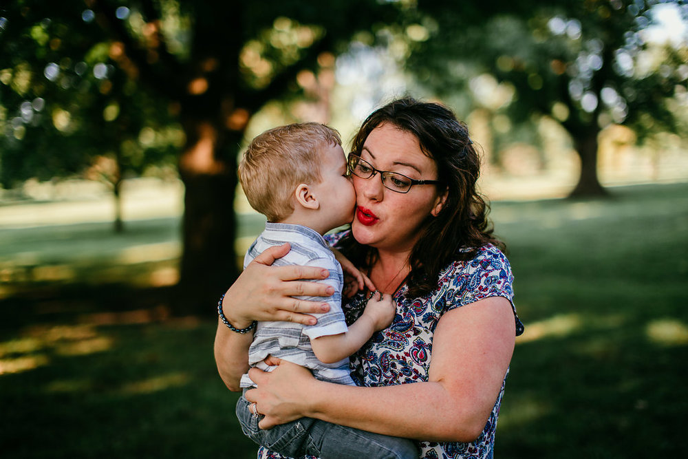 Mother and Son moment in the park | The Hann Family | Hanna Hill Photography | Durham, NC Family photographer