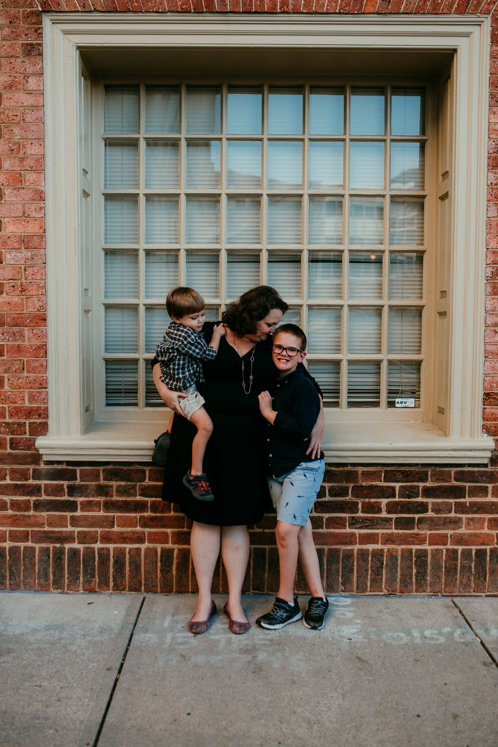mother and sons in downtown durham, NC family photography session| Hanna Hill photography | Raleigh birth and family photographer