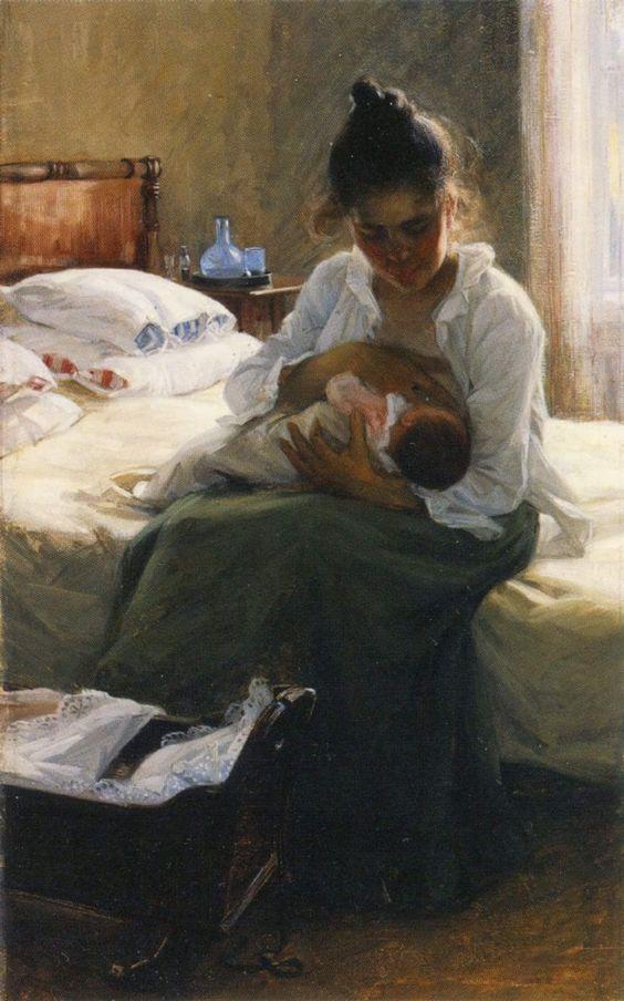 Elin Danielson Gambogi (Norrmark, Finland 1861 - Antignano LI 1919) Maternità, 1893