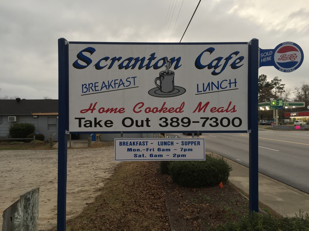 "Scranton Café only can be truly ""Traditional Country Cooking"". . .Breakfast, Lunch, Supper . . .Hey!, We are in Scranton, SC . . .Drive Safely. . .Come See Us!!!"