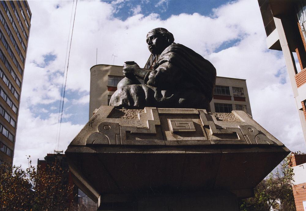 Aymara Statue, La Paz 2004