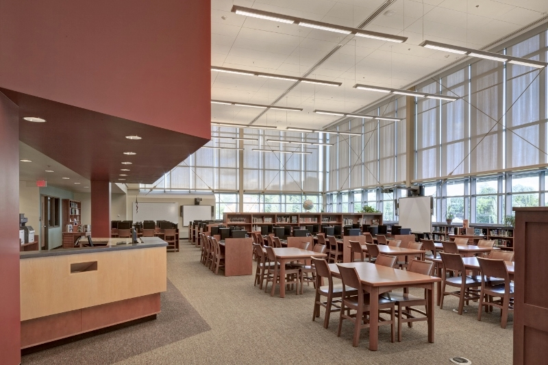Library at Fowler High School, Syracuse New York   To view more Architecture Projects click here.