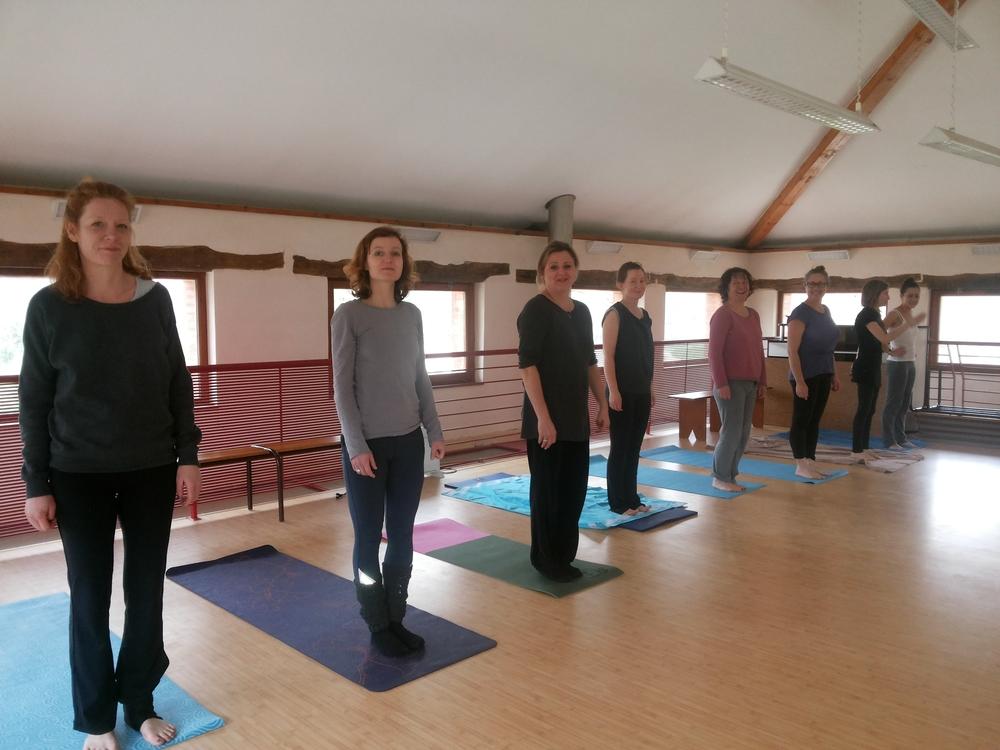 Stage de yoga à la salle de Venerque.