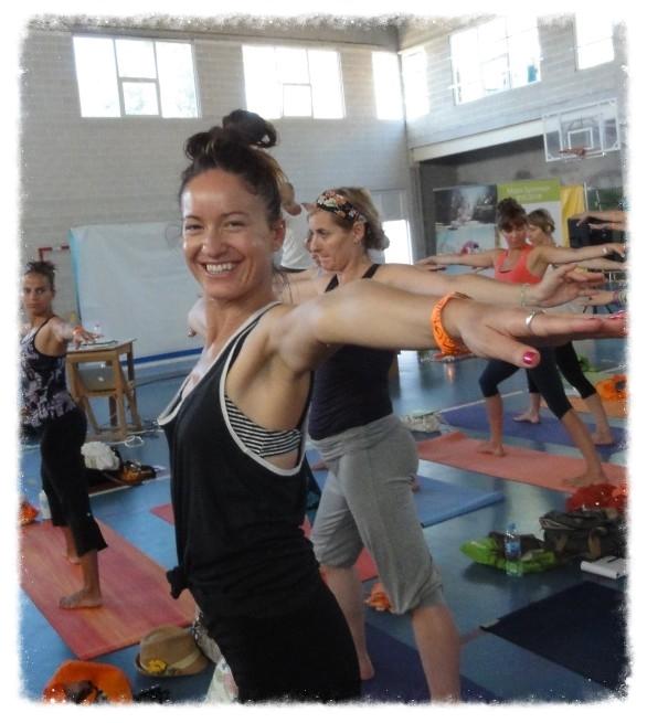 A la conférence de yoga à Barcelone, Espagne.