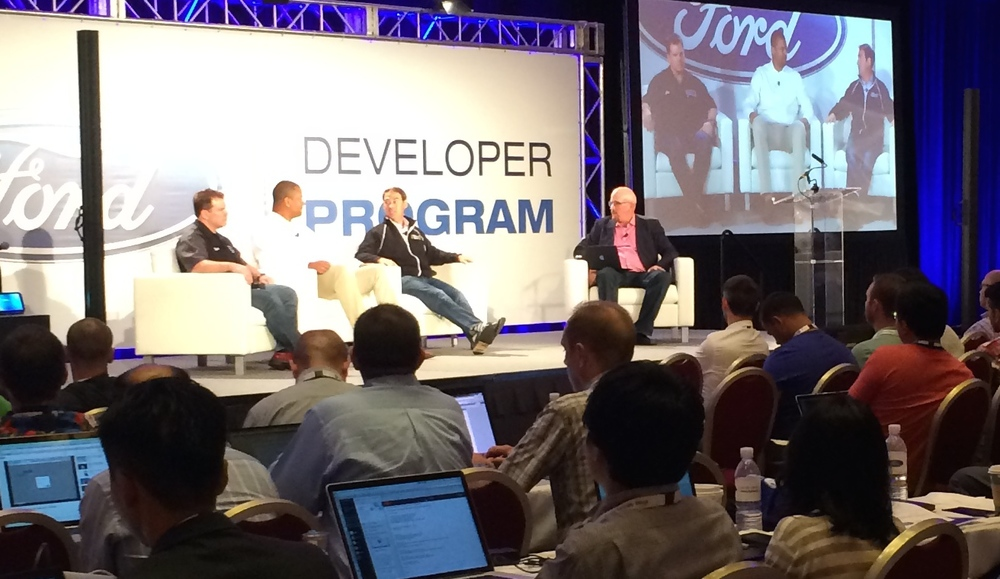 Apps on Wheels panel during Ford's Developer Conference.
