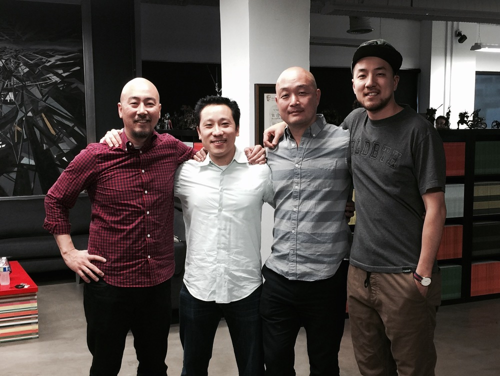 From L to R: Jimmy Yun (Section Studios, CEO), Alfred Fung (fun-gi, Founder), Cecil Kim (Section Studios, Chief Creative Officer), and Justin Yun (Section Studios, Head of Production)