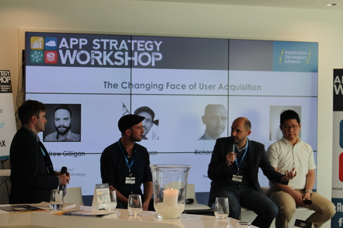 Andrew Gilligan of Smaato, Moritz Daan of SoundCloud, Richard Downey of The Mobile House, & Michael Munn of Venticake