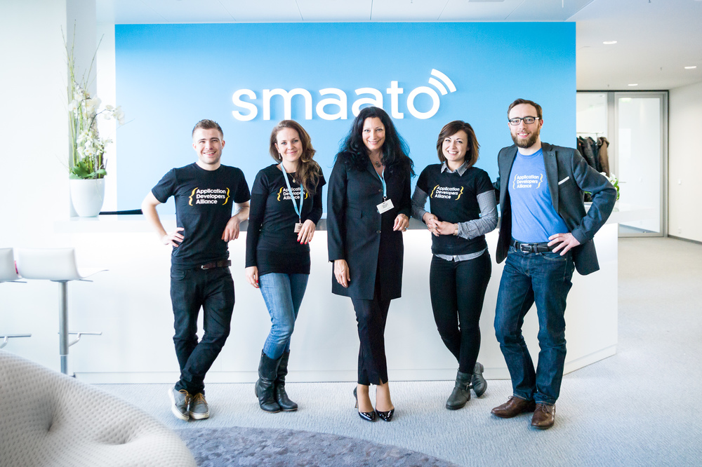 A big thank you to the Smaato team for hosting the workshop! Pictured from left to right: Keir Hutton Ferris (Apps Alliance), Beverley Eve (Apps Alliance), Petra Vorsteher (Co-Founder & EVP, Strategic Alliances of Smaato), Claudia Trivilino (Apps Alliance), and Corentin Cremet (Apps Alliance).