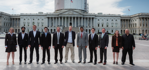 From Left to Right: Cara Edwards (Answers Corporation), Hartej Singh (Zuldi), Todd Moore (TMSOFT), Daniel Zadoff (Nutritionix), Michael Skelps (Capstone Photography), Austin Meyer (X-Plane), Peter Braxton (Jump Rope, Inc.), Jonathan Pasky (Pasky Gruber Scatchell), Tim Enstice (Orbitz Worldwide), Diane and Kevin Hamilton (Binary Formations)