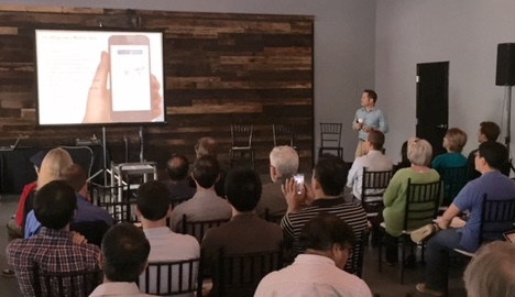 Brad Bacon, VP of Product at Healthgrades, addressed the audience.