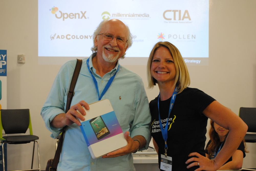 Nexus 9 Tablet contest winner, Peter Tierney.