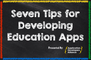 DEVELOPING EDUCATION APPS    VIEW BEST PRACTICE GUIDE   ➔