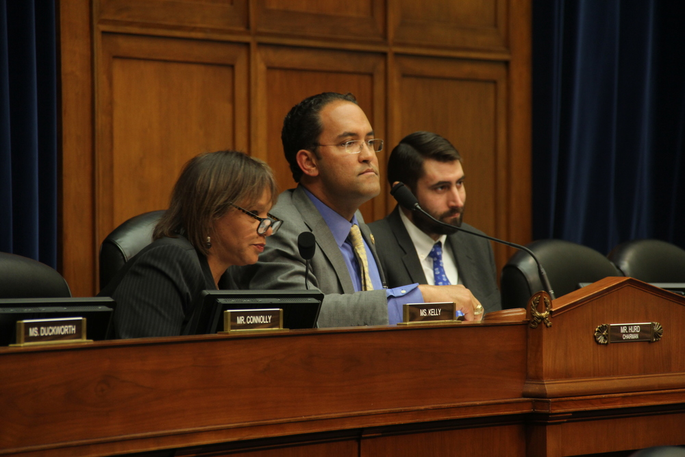 Center: U.S. Representative William Hurd at House Information Technology Subcommittee hearing April 29, 2015.