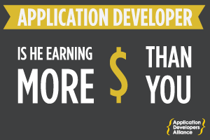 APP DEVELOPER SALARIES VIEW INFOGRAPHIC ➔