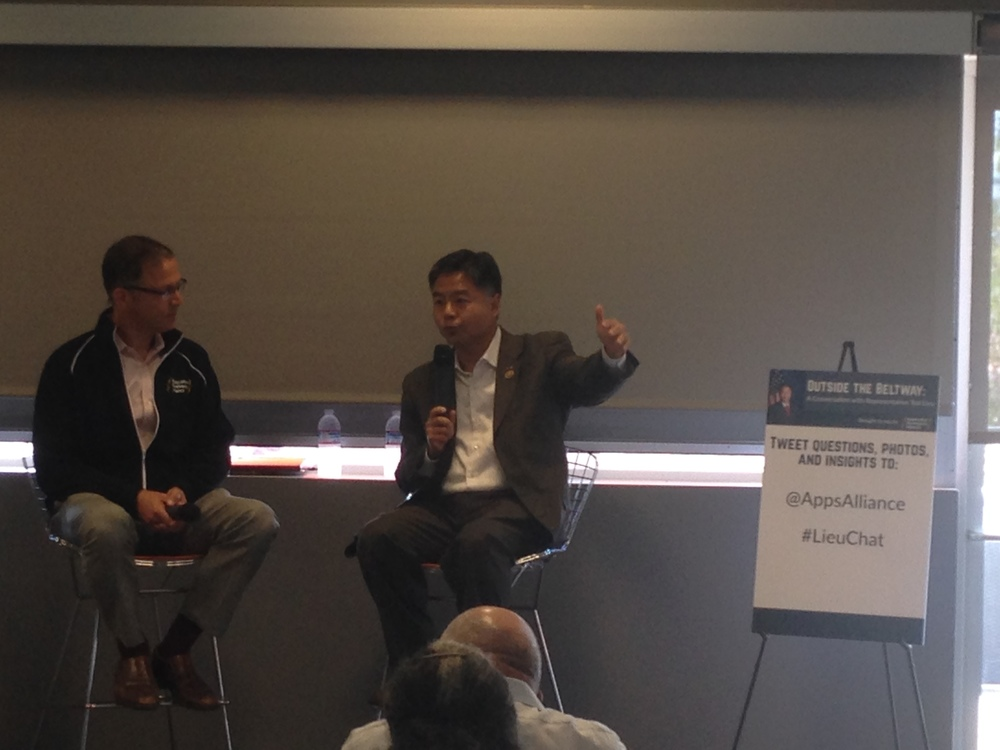 Alliance President Jon Potter and Representative Ted Lieu during their Q&A