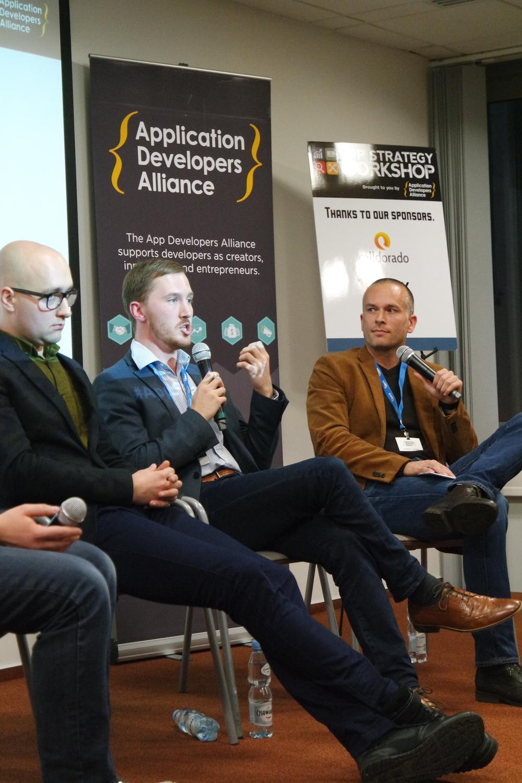 Filip Milosewski (Listonic), Jamie Walters (Millennial Media), Stefan Bielau (Dynamo Partners)