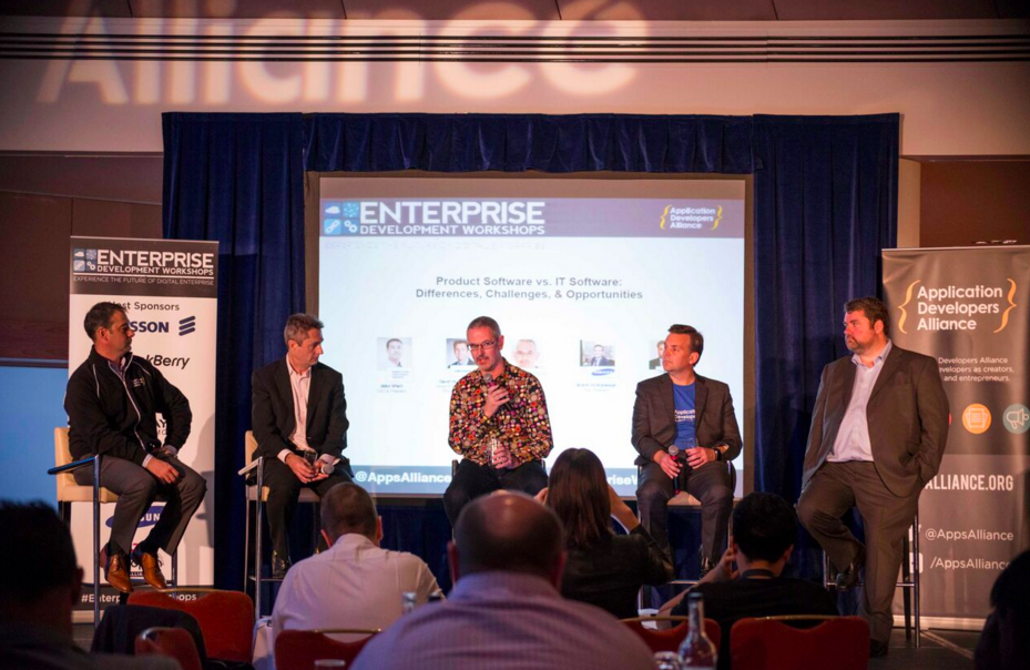 (Moderator) Jake Ward, President & CEO, Apps Alliance; Geoff Hollingworth, Head of Product Marketing Cloud Infrastructure, Ericsson; Paul Sherwood, CEO, Codethink; Brent Richtsmeier, VP, Samsung;  Ed Bourne, Sr. Enterprise Solutions Manager, BlackBerry.