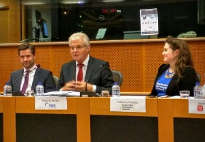 Heinz K. Becker MEP and Catriona Meehan