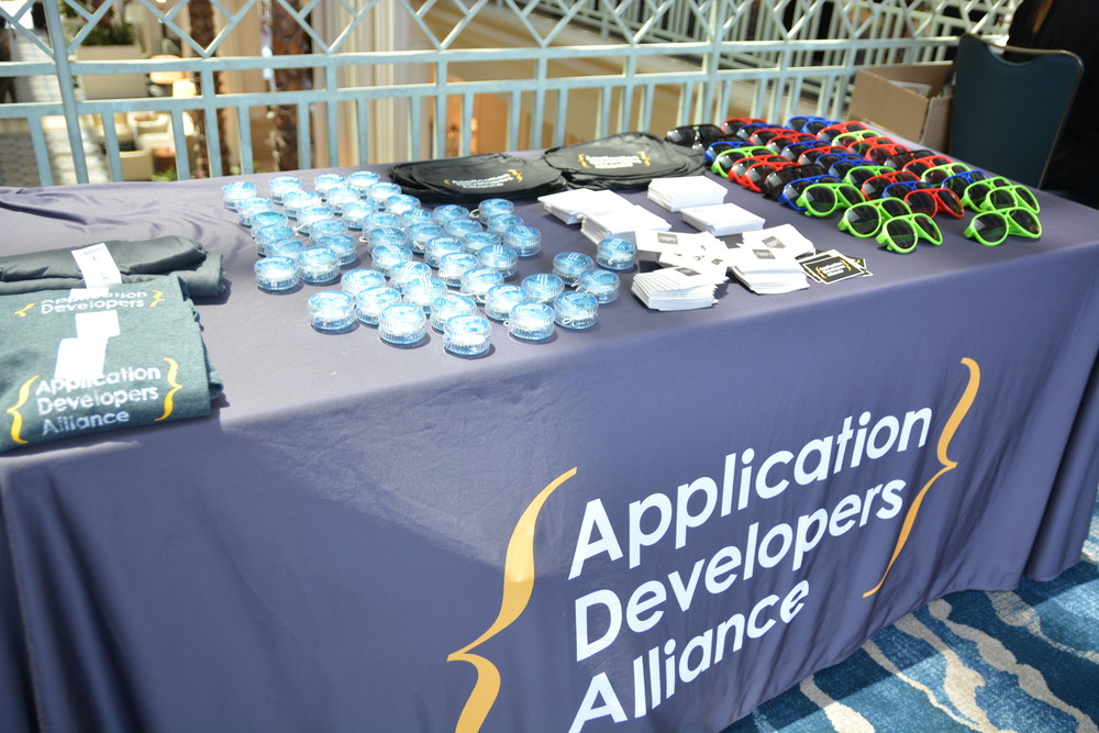 The Alliance table was filled with swag!