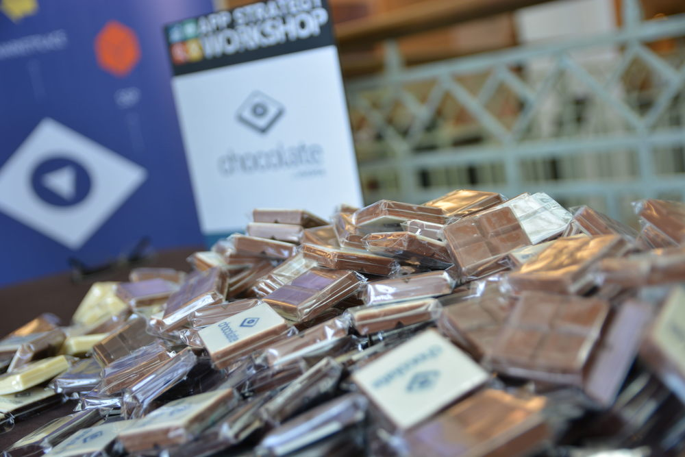 Our sponsor, Chocolate had a great table with treats for attendees!