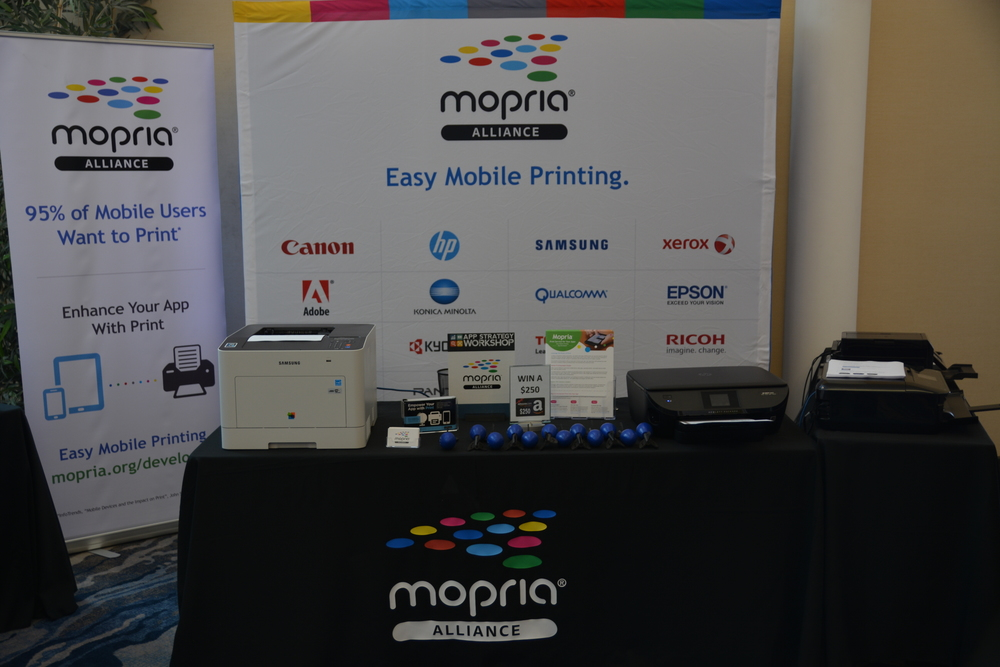 Our sponsor, Mopria, sponsored a print-a-selfie booth