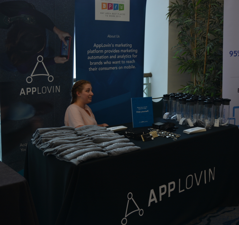 Applovin had a lot of swag to give out as well!