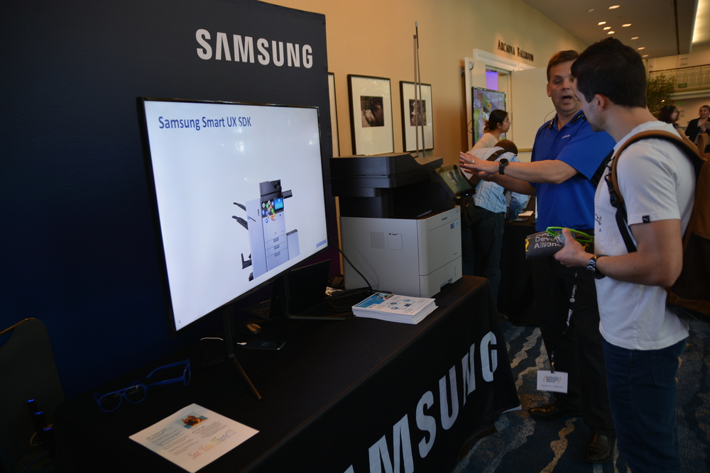 Samsung showing our guests their latest technologies