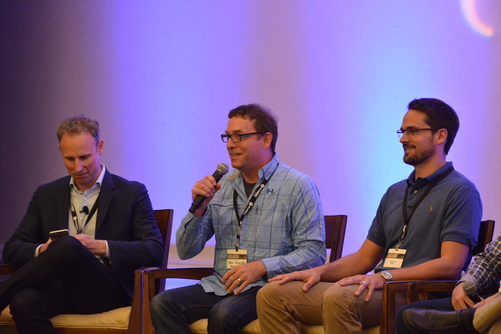 Our next panel was moderated by Martin Price (Chocolate by Vdopia), and it featured Zachary Kuney (Google), Adam Rockmore (Fandango), Peter Heinrich (Amazon Appstore), and Rafael Vivas (AppLovin).