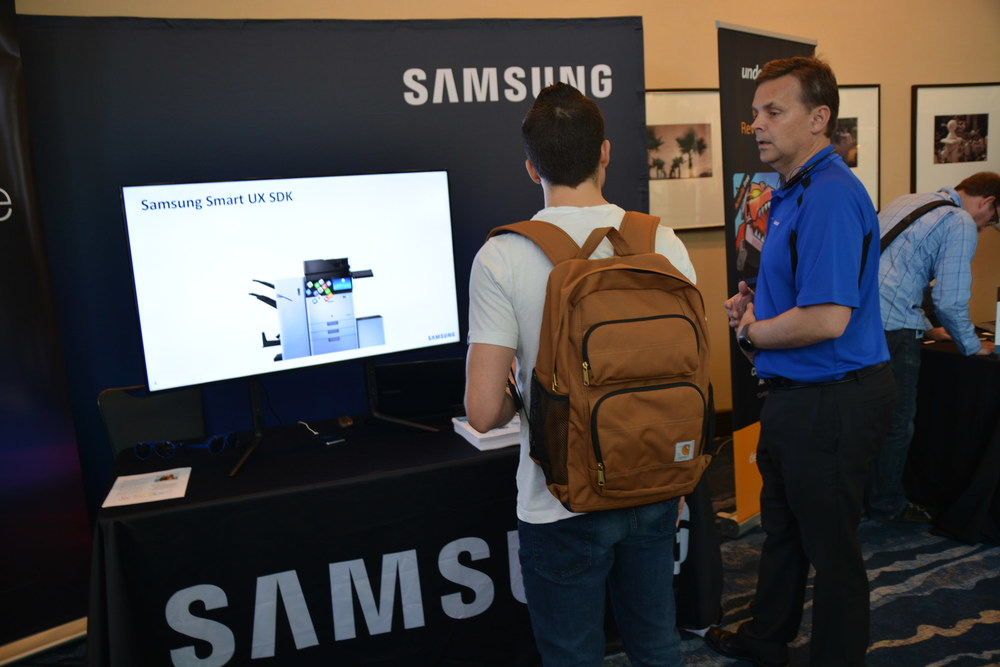 Great to have our sponsor, Samsung, there!