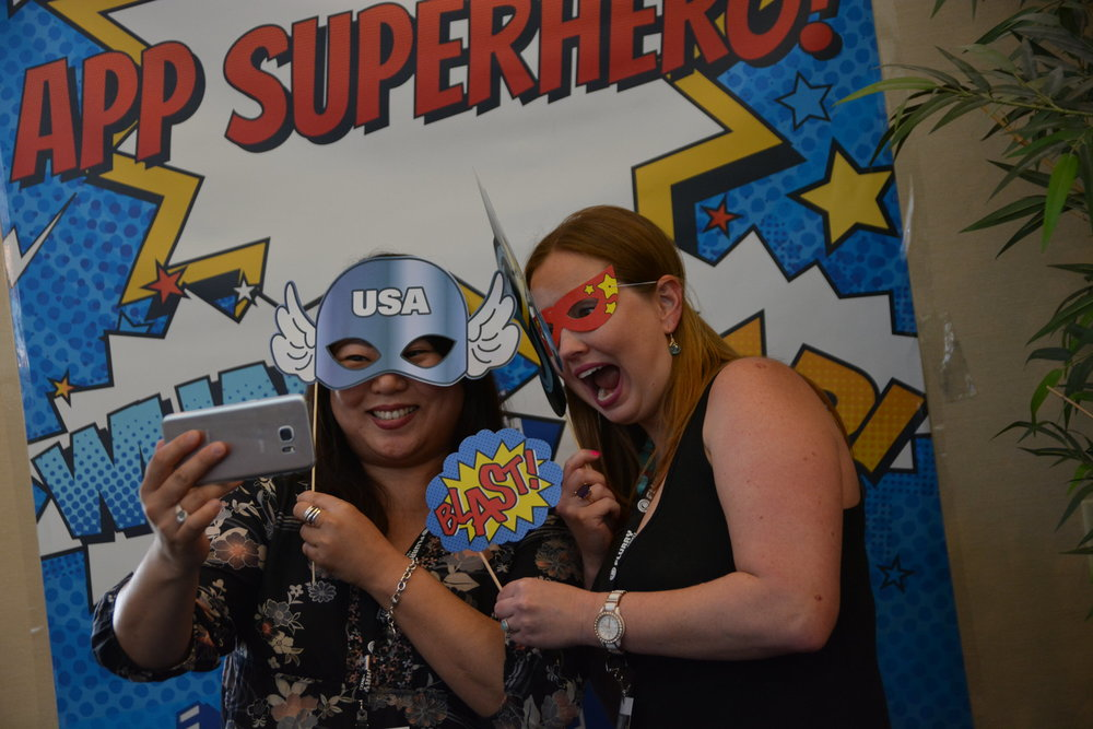 Our attendees loved our App Superhero booth!