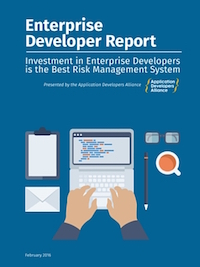 The Enterprise Developer Report explores what developers that work within companies are doing and what they need to succeed.   View Report ➔