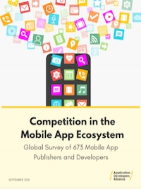 The   Competition in the Mobile App Ecosystem   report explores the sentiments of over 670 developers sharing their thoughts on platform competition, opportunity, and the state of the industry.