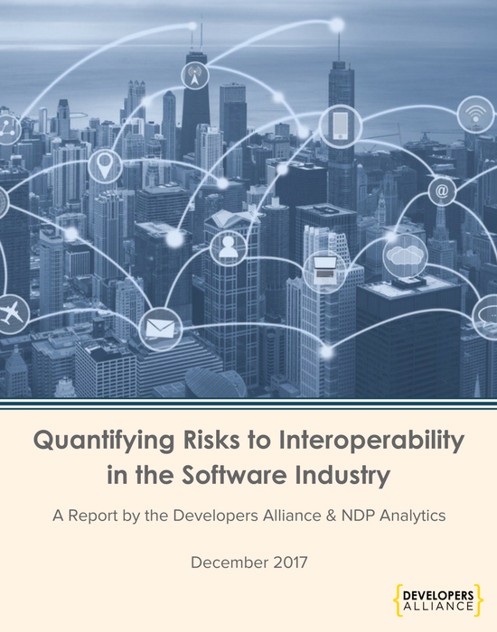 The Alliance and NDP Analytics examined the developer workforce and inter-connected IoT devices. Diminished interoperability between software and hardware in millions of devices could result in losing $77B in economic productivity over 8 years.