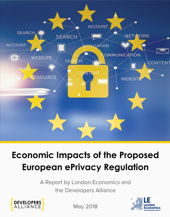 A new report commissioned by the Developers Alliance and produced by London Economics shows that the proposed  ePrivacy Regulation  being discussed in Brussels is potentially costly, definitely confusing, and likely to reduce innovation and investment across the EU. The total costs could soar as high as €551.9 billion annually in reduced turnover, with an impact far beyond the technology sector.