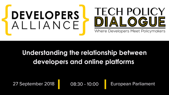 UNDERSTANDING THE RELATIONSHIP BETWEEN DEVELOPERS AND ONLINE PLATFORMS  Brussels, Belgium