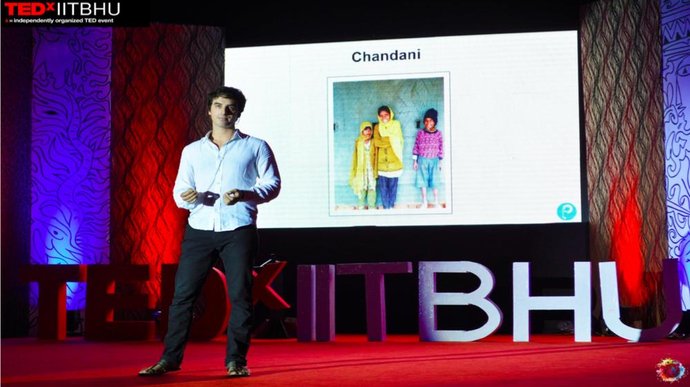 Zubin Sharma delivering the TedxIITBHU talk