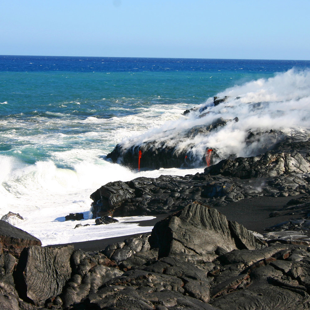 Lava into Sea Hawaii Volcanoes HI S.jpg