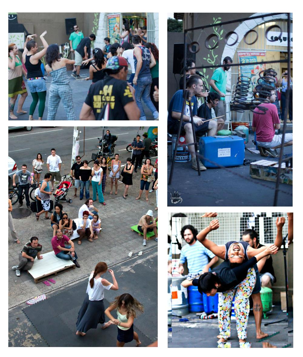 POR ACASO tardes de improviso, 2012, em frente a Fábrica Cultura Coletiva na Rua 3 do Centro de Goiânia/GO